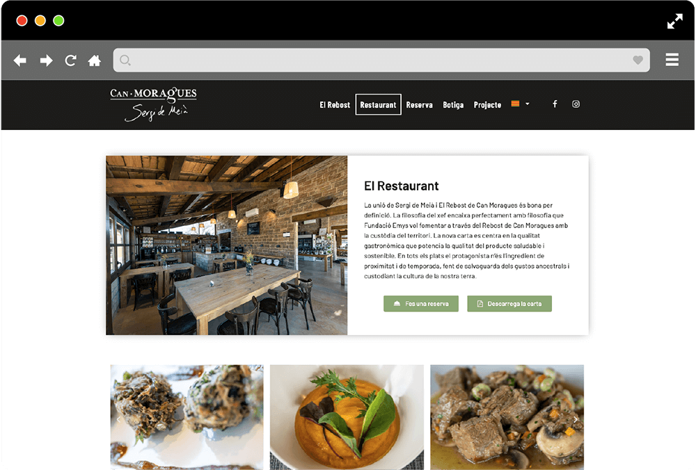 disseny web Can Moragues
