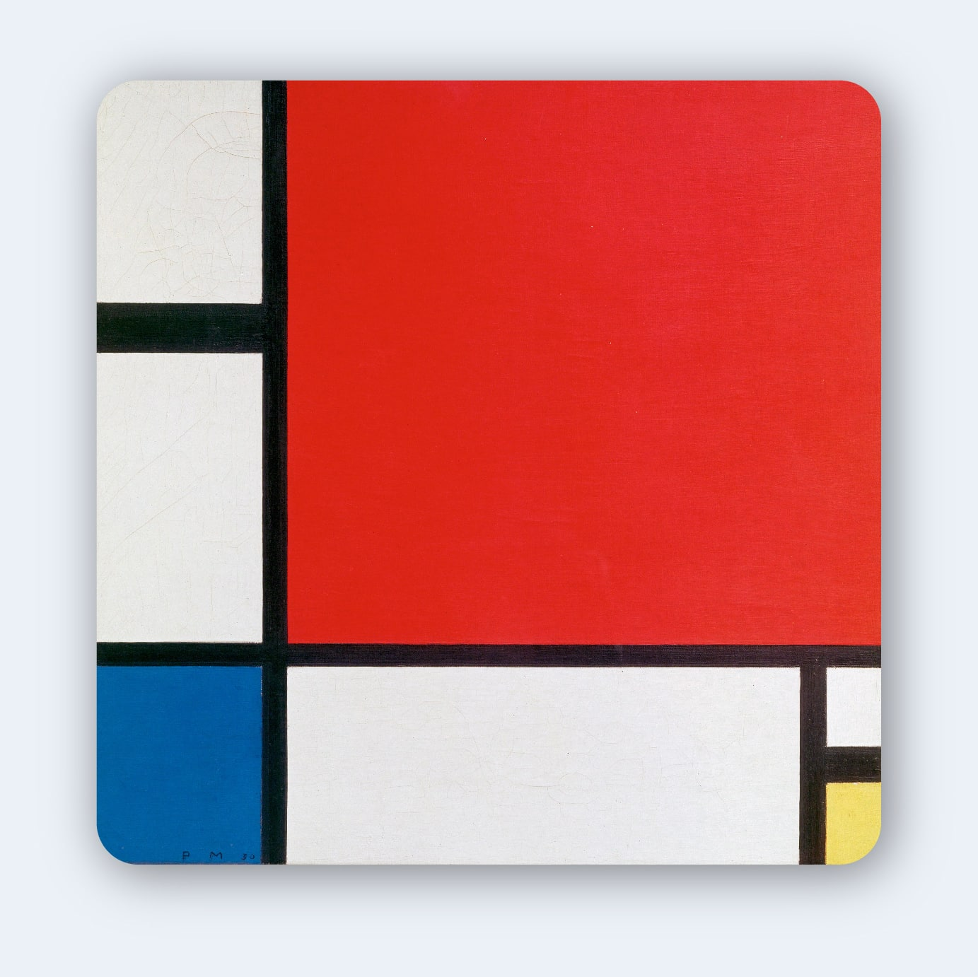 Composition with Red Blue and Yellow